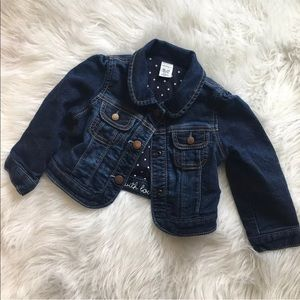 Baby GAP Size 18-24 Months Girl Jean Denim Jacket